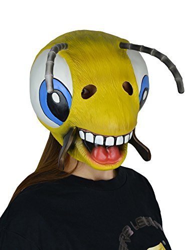 LarpGears Halloween Costume Party Latex Animal Mask Cute Bee Mask Child and Teen (Easy And Cute Halloween Costumes)