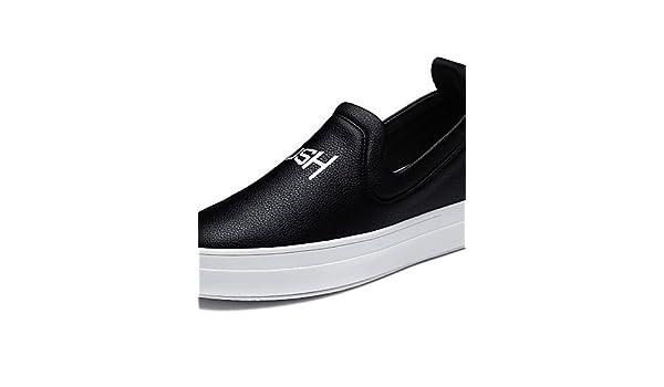 ZQ gyht Zapatos de mujer - Plataforma - Creepers - Mocasines - Oficina y Trabajo / Vestido / Casual / Deporte / Fiesta y Noche - Sintético -Negro ...