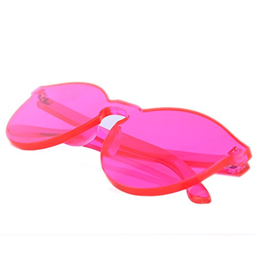 Alondra Kolt The GIGY Rimless Colorful Sunglasses - Pink Sun Glasses