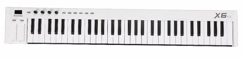 midiplus X6 mini -Key Controller, white by Midiplus