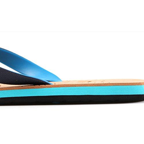 Rouge Pincent Bois De Sandales Extérieur De Pantoufle Unisexe Bleu En Société De Pantoufles La Bleu Plastique Blanc D'été Grain pxFRW