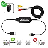 RCA to HDMI Converter Cable, NEWPOWER RCA to HDMI Cable AV to HDMI, Adapter for Playing PS3/ PS4/ Xbox/VHS/VCR/DVD Player/Game Consoles etc on Modern TV