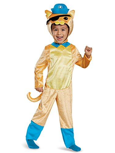 Kwazii Cat Classic Octonauts Silvergate Media Costume, Small/2T -