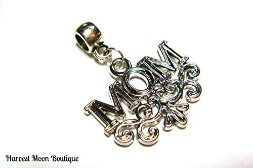 Mom Pendant Mother Scroll Filigree Mother Jewelry Gift for Mom Your Choice of Chain ()