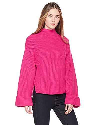 True Angel Women's Long Sleeve High Neck Pullover