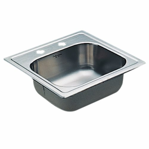 Moen 22119 Commercial Sink 20 ga 2 hole includes sealtite st