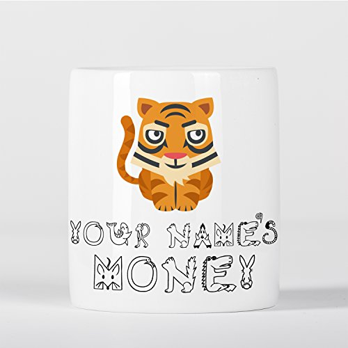 Personalised Tiger Cute Animal Zoo Children Customizable Money Box (Personalised Tiger)