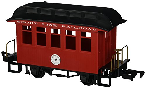 Bachmann Industries Li'L Big Haulers Coach G-Scale Short Line Railroad with Red/Black Roof, Large from Bachmann Trains