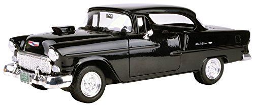 Motormax 1955 Chevy Bel Air Convertible W / Hood Scoop Black 79001