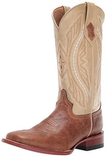 Ferrini Women's Kangaroo Western Boot, Antique Saddle, 8 B US