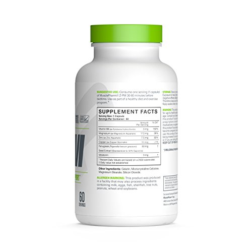 MP-Essentials-Z-Core-PM-Natural-Sleep-Support-Supplement-Nighttime-Muscle-Recovery-and-Sleep-Aid-Healthy-Testosterone-Support-Melatonin-Zinc-and-Magnesium-MusclePharm-60-Servings