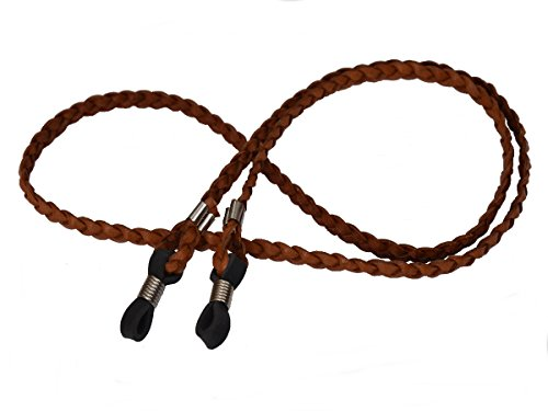 "Braided Leather Eyeglass Sunglass Keeper Retainer Strap - 24"" or 26"" (Unisex)"