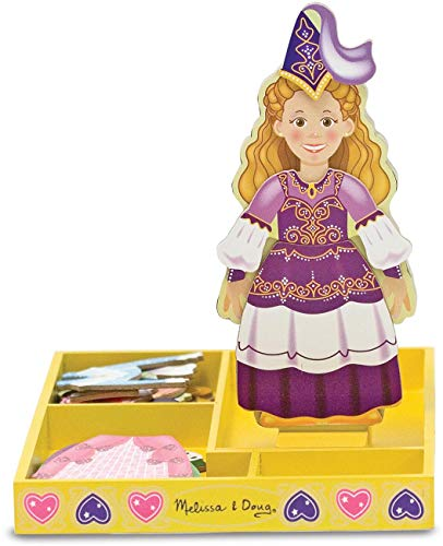 Princess Elise - Magnetic Dress Up Wooden Doll & Stand