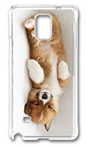 Adorable cute puppy sleep Hard Case Protective Shell Cell Phone For Case HTC One M7 Cover - PC Transparent
