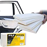 Apulat - Garage Wall Guard - Car Door Protector - 1.18 Inches Thick, 7.87 Inches Wide, 15.74 Inches Long - 4 Self-Adhesive White Foam Padding Bumpers Protects Vehicle Doors And Walls In Tight Parking