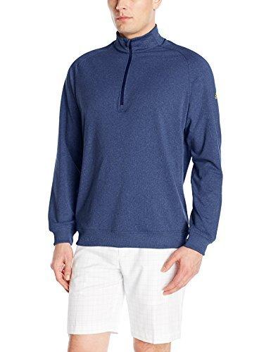 adidas Golf Men's Golf Adi Club Half Zip Jacket, TMAG Dark Blue Heather, XX-Large by adidas