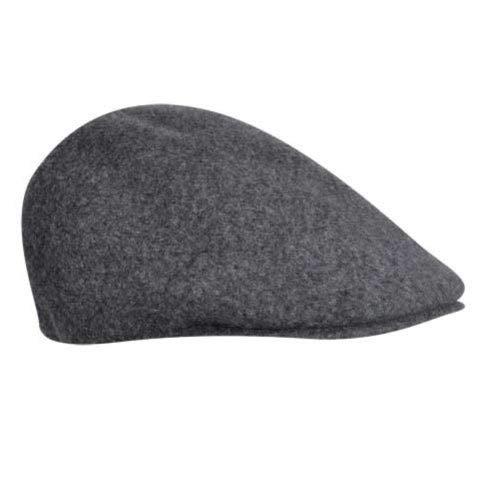 Dark Flannel Kangol - Kangol Men's Seamless Wool 507 Ivy Cap, Ergonomic, Contoured Fit, Dark Flannel (Medium)