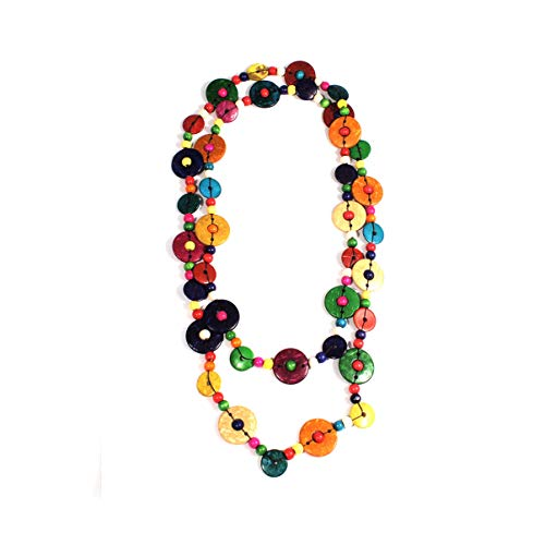 Nataliya African Bead Jewelry Set (Multicolor Round Coconut)