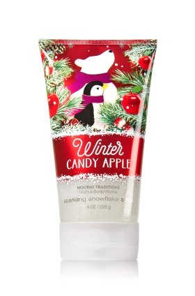 Bath & Body Works Sparkling Snowflake Scrub Winter Candy Apple 8oz