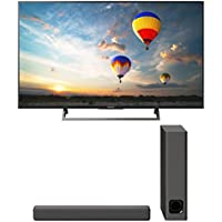 Sony XBR-49X800E 49 4K Ultra HD LED Smart TV and HT-MT300 2.1 Channel Compact Soundbar with Wireless Subwoofer (Charcoal Black)