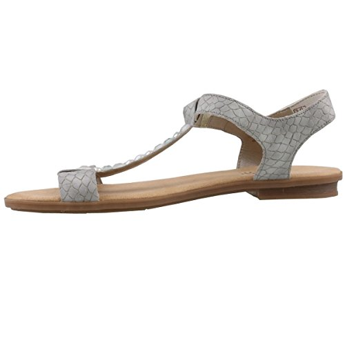 Rieker 64299 Women's Sandals, Ankle-Strap Sandal, Summer Shoes Grau