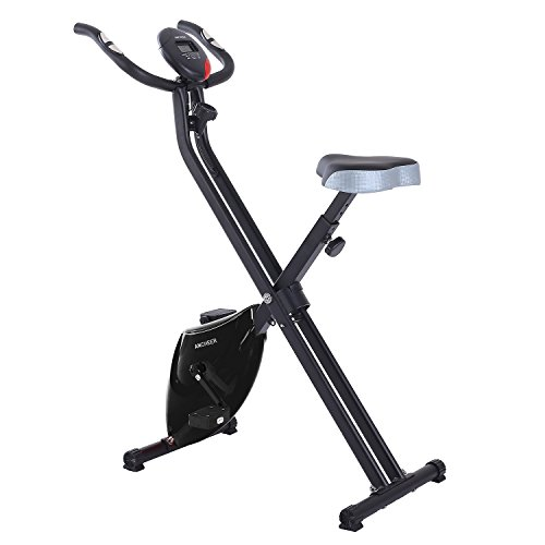 Ancheer Folding Upright Exercise Bike Stationary Recumbent Indoor Magnetic Cycling Bike Cardio Workout Machine