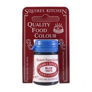 Squires Kitchen BLUE QFC Quality Food Cake Icing Paste Colour Colouring 20G