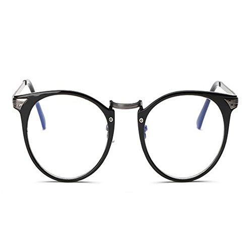 Fatiga Negro Mujer Xinvision Redondas Marco Gafas Brillante Computadora Filtro Lente Moda Hombre azul luz de Anti Claro UV Unisex BXqXw1T4A