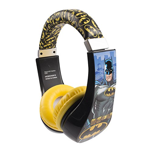 Batman 30382 Kid Safe Over the Ear Headphone with Volume Limiter, by Sakar