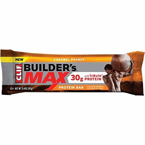 UPC 722252560407, Clif Bar Builder's Max 30g Protein Bar - Box of 9 (Caramel Peanut)