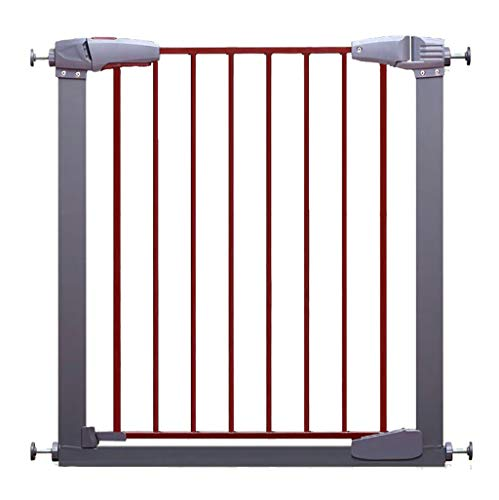 Safety Pet Gate with Door | Fits Spaces 77 to 86 cm | Metal Walk Through Safety Gate | Double Locking Swing Door | White, Easy Open, No Safety Hazard (Size : 84-86cm)