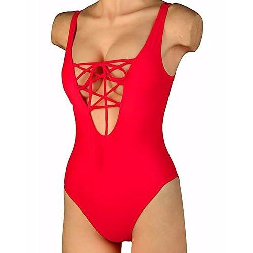 93beece6fa Kiwi-Rata Sexy Women 1 Piece Bikini Monokini Bandage Push-Up Padded  Swimwear Swimsuit