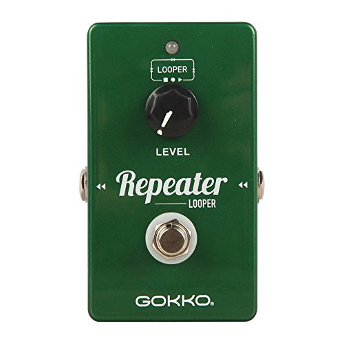 GOKKO AUDIO GK-27 Repeater Looper Guitar Effect Pedal, come with a 10 minute loop time and an unlimited amount over overdubs by GOKKO