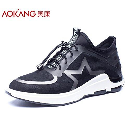 Aemember scarpe da uomo e scarpe comode per il tempo libero a bassa traspirante scarpe scarpe di stelle di spessore ,40, 男 Scarpe Nero