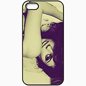 Personalized iPhone 5 5S Cell phone Case/Cover Skin Mila Kunis 4 Celebrities Black