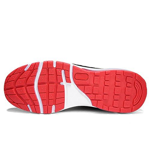 Unisex rosso Ginnastica all'Aperto VITIKE Basse Uomo Scarpe Corsa Uomo 1 Scarpe Casual Running da Interior Air Donna da Fitness Sneakers Sportive dxxRwXFq6