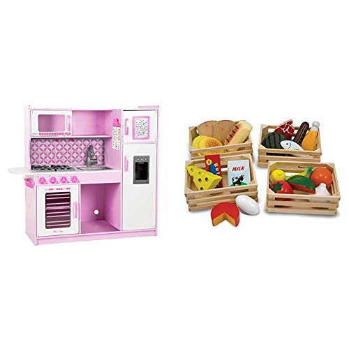 Melissa Doug Chef S Kitchen Pretend Play Set Cupcake 39 H X 43 25 W X 15 5 L Food Groups Wooden Play Food The Original Kids Toy Best For 3 4 5 And 6 Year Olds Shefinds