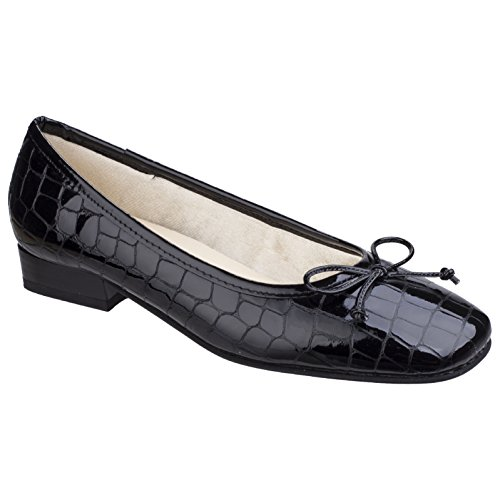 Shoes Court Navy Ballet Valeria Ladies Womens Riva w7X6Fq