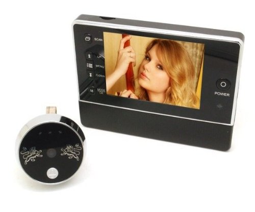 DBPOWER 3.5 inches LCD Screen Digital Peephole Doorbell