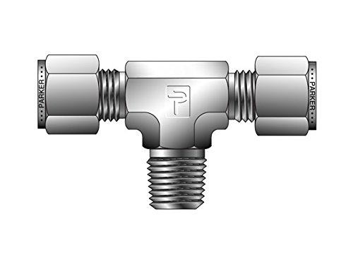 Parker Instrumentation Tube Fitting Male Tee NPT Male Tee for use with Inch Tubing