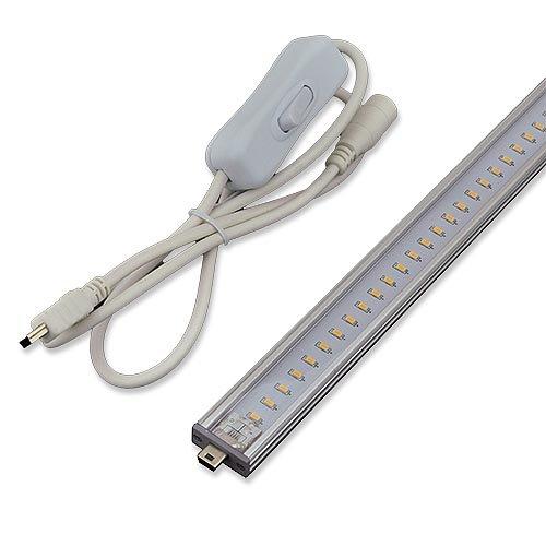 LEDwholesalers Linkable Low Profile Aluminum LED Rigid Strip for Display Case and Under Cabinet Light, 20-Inch, White, 1987WH by LEDwholesalers (Image #3)