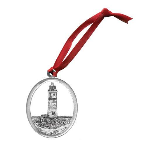 Atlantic Lighthouse Ornament - Set of 2 (Lighthouse Pewter Ornament)