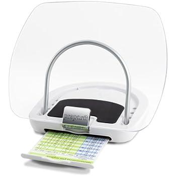 Prepara Chef's Center Cookbook Holder – Adjustable 360° Rotatable Base – Folds Flat for Easy Storage