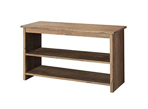 Low Console - Furniture of America Erhart V 2-Shelf Console Table, Rustic Oak