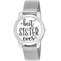 BigOwl Bhaidooj Gifts for Sisters Silver Chain Analog Women
