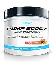 RSP Pump Boost - Stimulant Free Pre Workout Pump Enhancer, Nitric Oxide Booster for Improved Pumps, Energy, Training Endurance