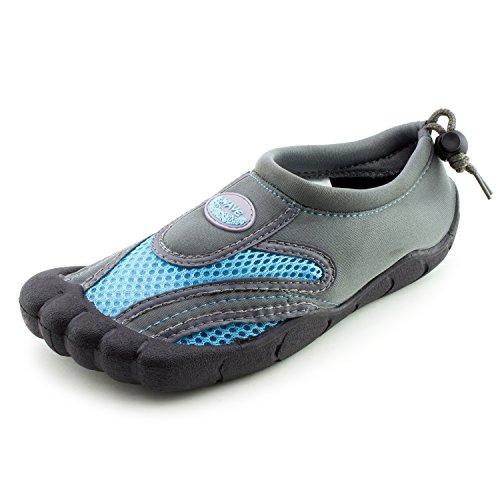 Femmes Plage Extérieure Piscine Creek Aqua Chaussures Deau (adultes) Gris / Bleu