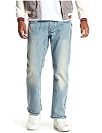 e2ca70031ac7 Men s Straight Leg Relaxed Fit Midnight Stitch Jeans w Flaps In Rodeo Affair