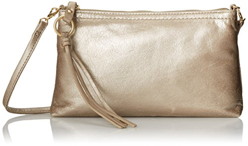 Convertible Hobo - HOBO Darcy Convertible Cross Body Handbag,Champagne,One Size