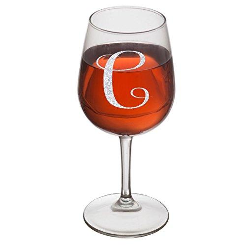 Rox Drinks Engraved Glass C Monogram